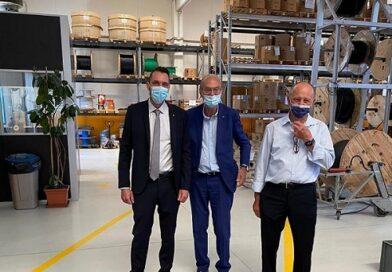 Luca Palladino e Sergio Silvestrini visitano la Cablotech